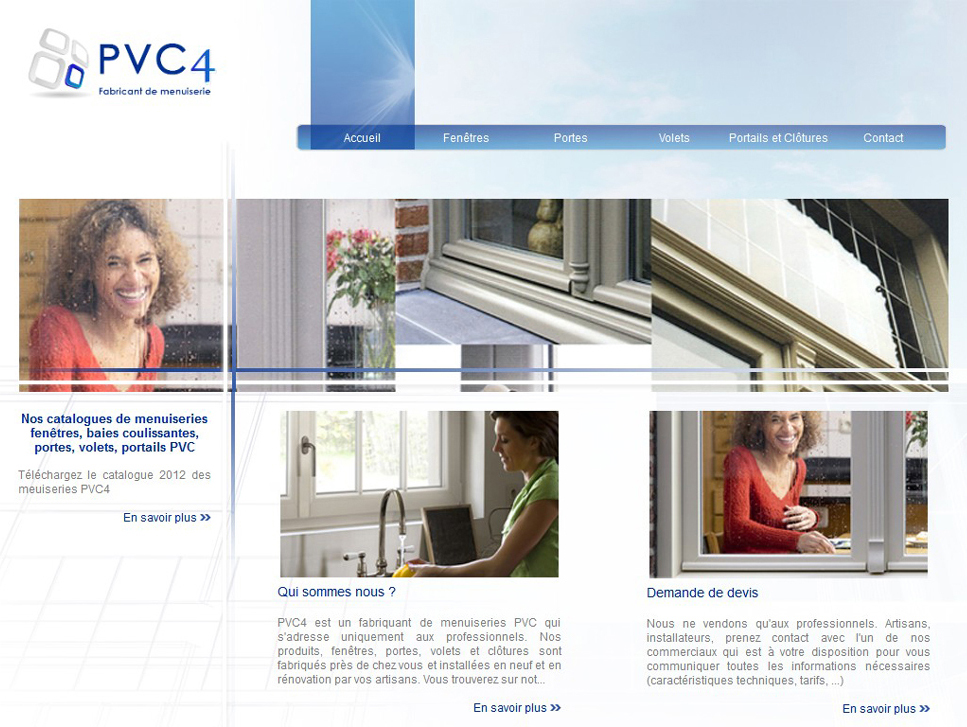 Screenshot du site PVC4